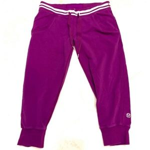 Rare Lululemon Purple Cropped Sweat Pant Joggers